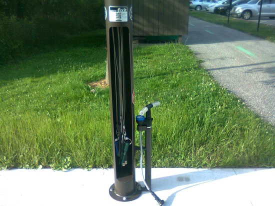 North Chagrin Reservation : Bike equipment rack