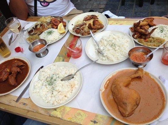 Soleil D'Afrique: 4 persons meal