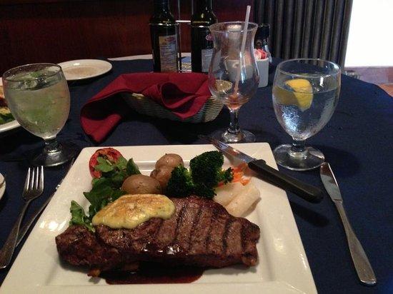Spencer's Tall Trees Restaurant : Grilled strip steak