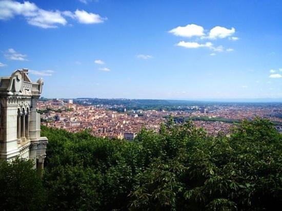 Hotel Saint-Pierre des Terreaux : View of Lyon from Basilique Notre Dame de Fourviere