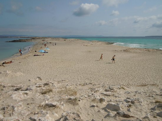 Strand Playa de ses Illetes: panoramica delle due rive