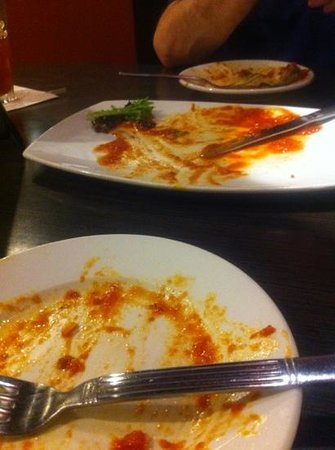 Evo: Where the pesto arancini used to be. The house marinara was so good we ate anything it touched,