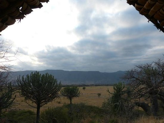 Ol Mesera Tented Camp: View of escarpment from our tent