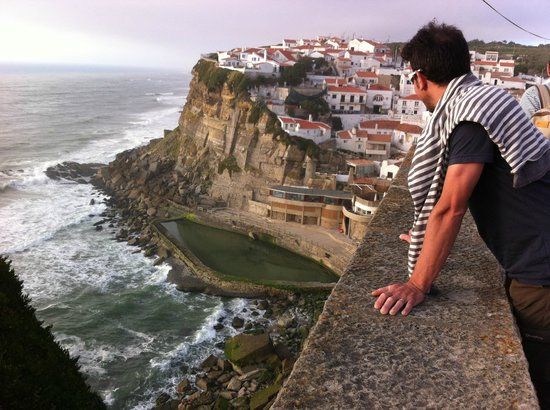 Azenhas do Mar Restaurante Piscinas: le restaurant vue de haut