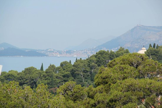 Villa Ana: Looking toward Dubrovnik from the porch