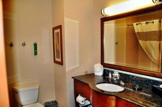 Hampton Inn Rock Springs: unser Badezimmer