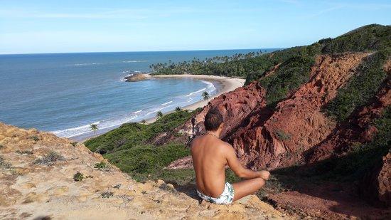 Praia do Coqueirinho: Vista de cima