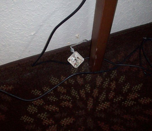 Holiday Inn Express Nashville Airport: Phone jack pulled from wall