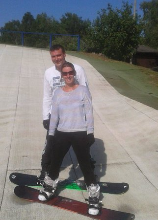 Warmwell Holiday Park Ski Slope: our 1st lesson