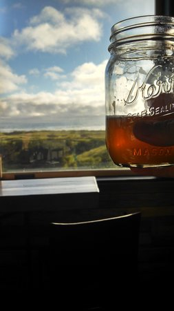 Pickled Fish Restaurant : Toasting the view