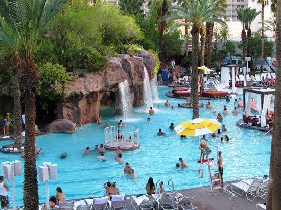 Las Vegas is certainly no longer a quiet little railroad town. An enormous building boom has pushed the number of hotel rooms here to almost , in