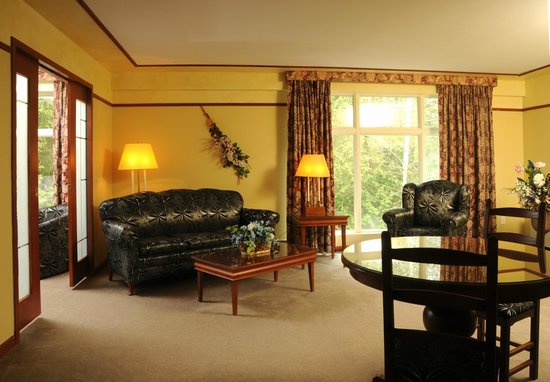 Hôtel Au Petit Berger : Salon d'une suite