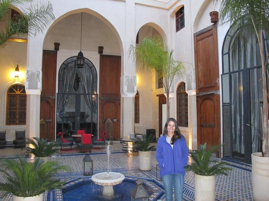 Riad Said: View of the courtyard