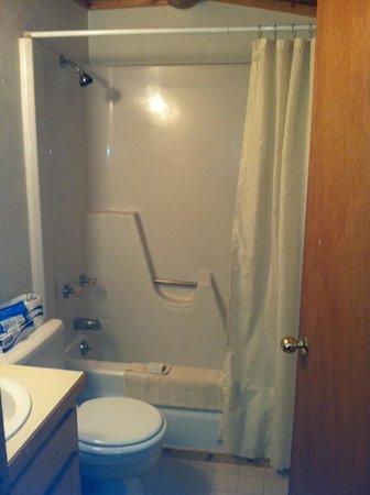 هارميلز رانش ريزورت: bathroom w/new tub off main bedroom that has the double & twin