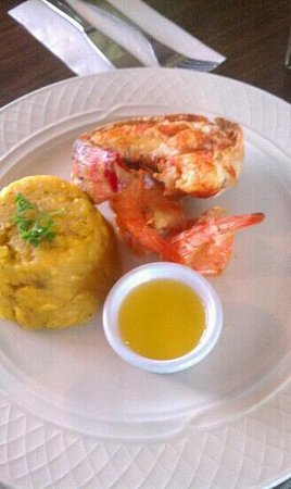 King Seafood: House specialty,  grilled lobster & shrimp