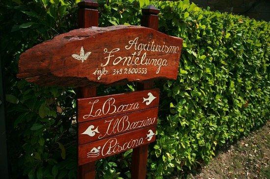 Azienda Fontelunga: La Bozza sign street view