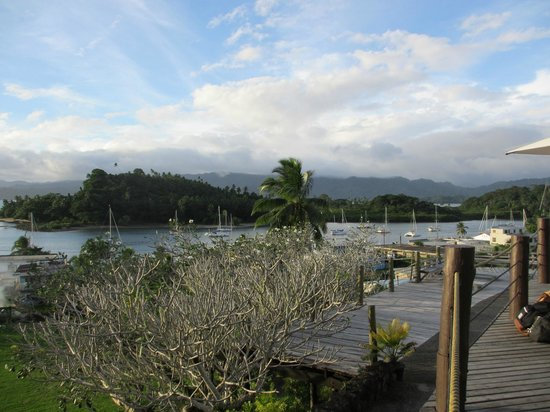 Savusavu Hot Springs Hotel: View from the deck
