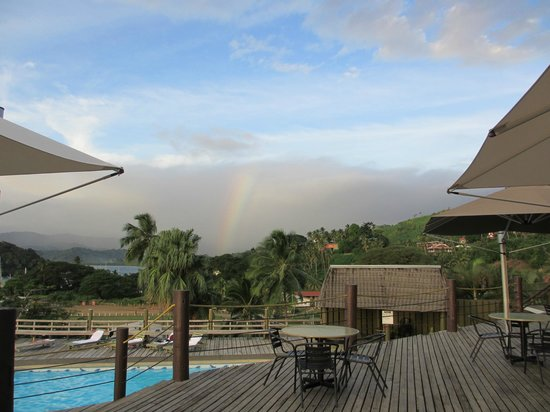 Savusavu Hot Springs Hotel: Rainbow from the deck