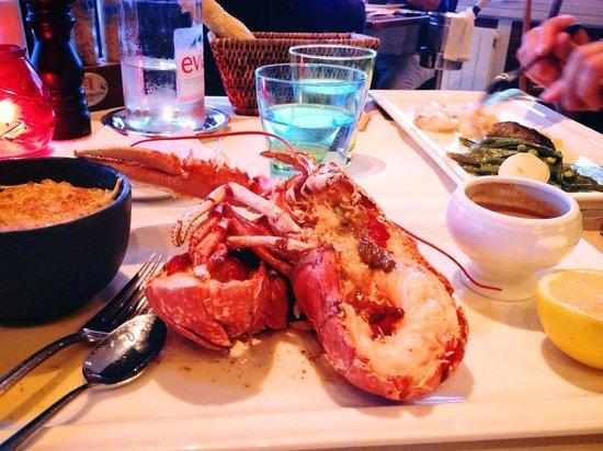 L'Eden Beach : Homard breton rôti au beurre salé