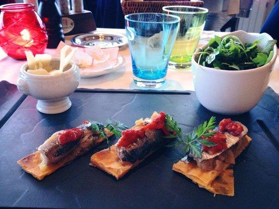 L'Eden Beach : Sardines en pissaladière