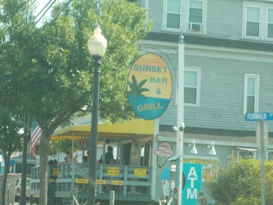 Sunset Bar & Grill: the Sign