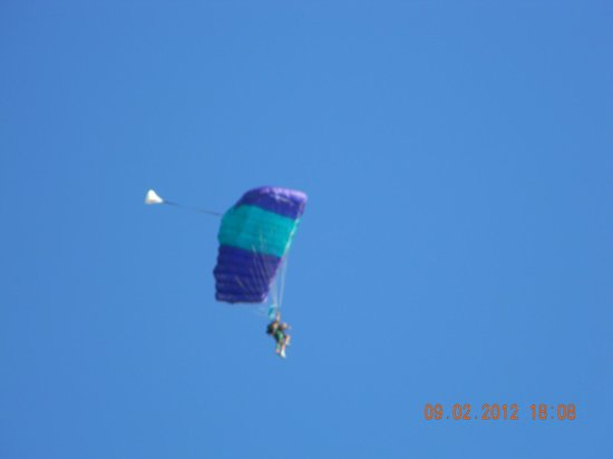 Skydive South Texas on Mustang Island: Coming down smooth.