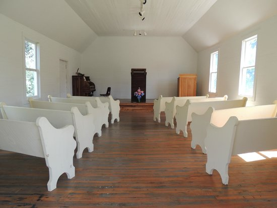 Great Smoky Mountain Heritage Center: inside the church