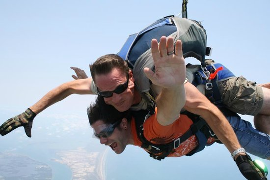 Skydive South Texas on Mustang Island: Just another day over paradise