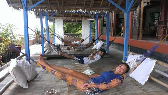 Portulano Dive Resort: love the hammocks!!