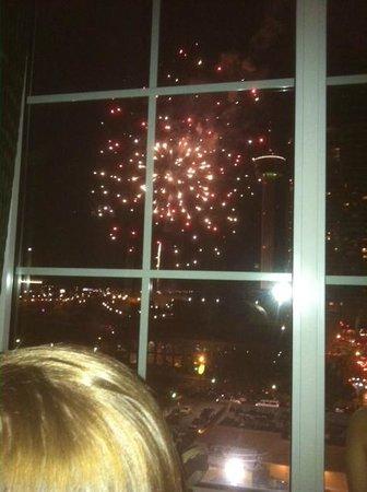 La Quinta Inn & Suites San Antonio Riverwalk: View from room 1022 on July 4th