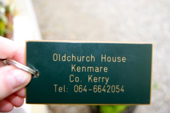 Oldchurch House B&B: room key