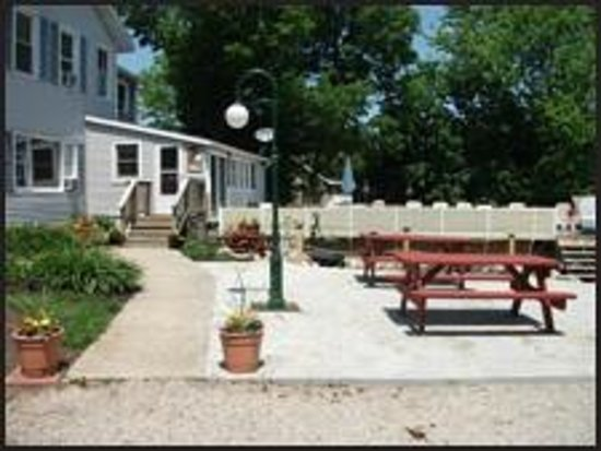 Black Squirrel Bed and Breakfast: Pinic Area, Pool and Entrance to B & B