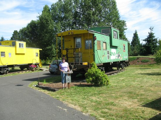 Red Caboose Getaway: Outside the caboose