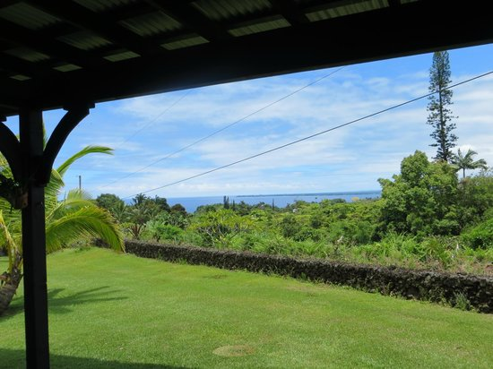 Island Goode's: view from Hilo Bay room sliding doors
