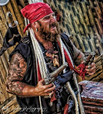 Belle of Topsail: Maniac Mike Macaw...one of the crusty pirates.