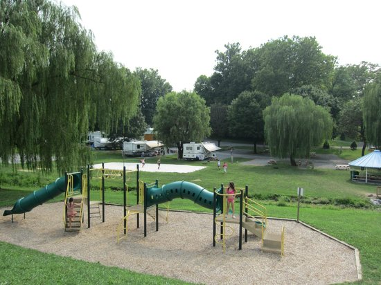 The playground picture of hersheypark camping resort for Camp sites with cabins