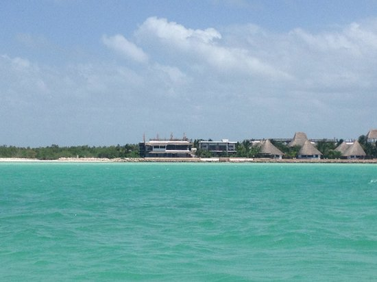 Las Nubes De Holbox: view of the property from the water