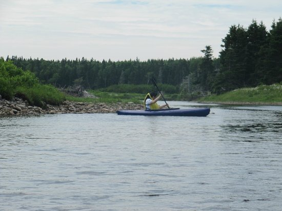 Cabot Shores Wilderness Resort: kayaking at Cabot Shores