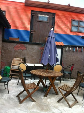 Fiesta Mexicana Restaurant : on the patio
