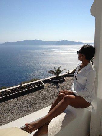 Santorini Princess: Enjoying the view
