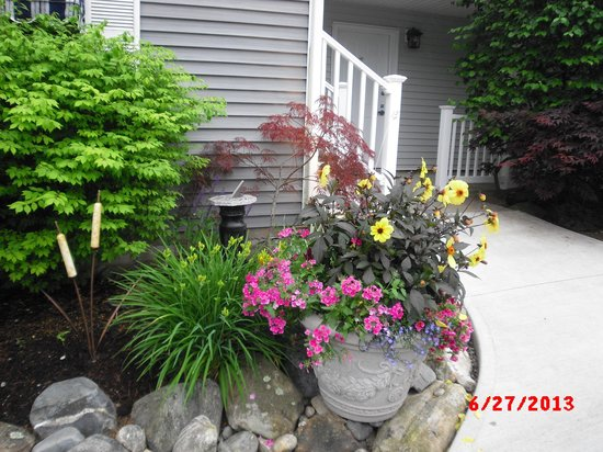 Strawberry Hill Seaside Inn : Grounds by our door
