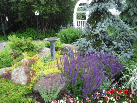 Strawberry Hill Seaside Inn : Lovely garden
