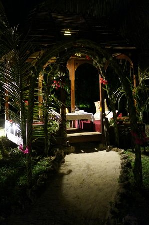 Anna of Zanzibar: Romantic last meal in private gazebo