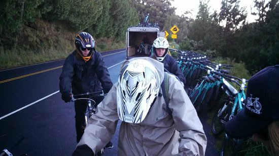 Paia, HI: Those other bikes you see were from a DIFFERENT bike company...they went down as a group. But NO