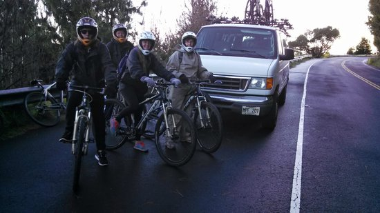 Paia, HI: We are preparing to depart for the bike ride portion of the trip