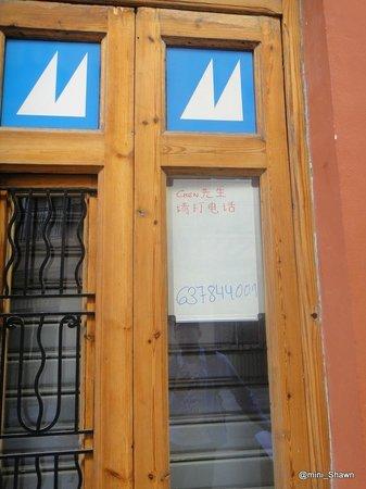 Maritim Apartamentos: the memo that Rafael left to us on front door :)