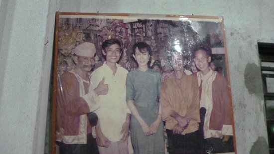 Moustache Brothers : Photo of with Aung San Suu Kyi