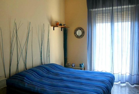Why Not?: One of the bedrooms with a view of Vesuvius