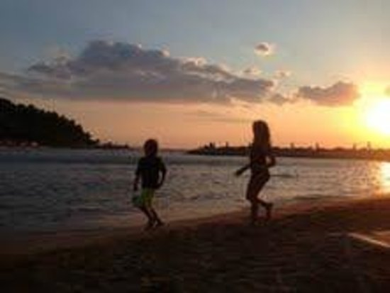 Arion, a Luxury Collection Resort & Spa: J and D playing at Sunset