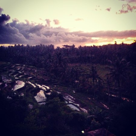 Soulshine Bali: View from the second floor and Sunset room of the Terrace Villa